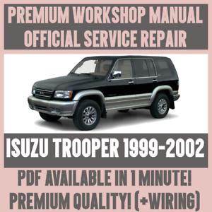 workshop manual service repair guide for isuzu trooper 1999 2002