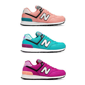 9adc8827def7 New balance 574 donna rosa pesca turchese fuxia fluo colorate asa ...