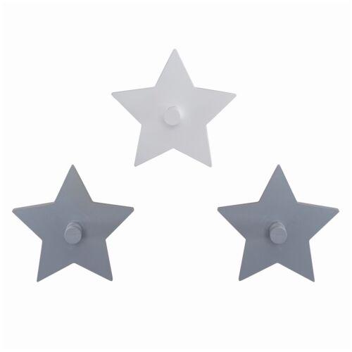 Roba 3er Set Wandhaken Sterne MDF ca 15cm Durchmesser Little Stars NEU