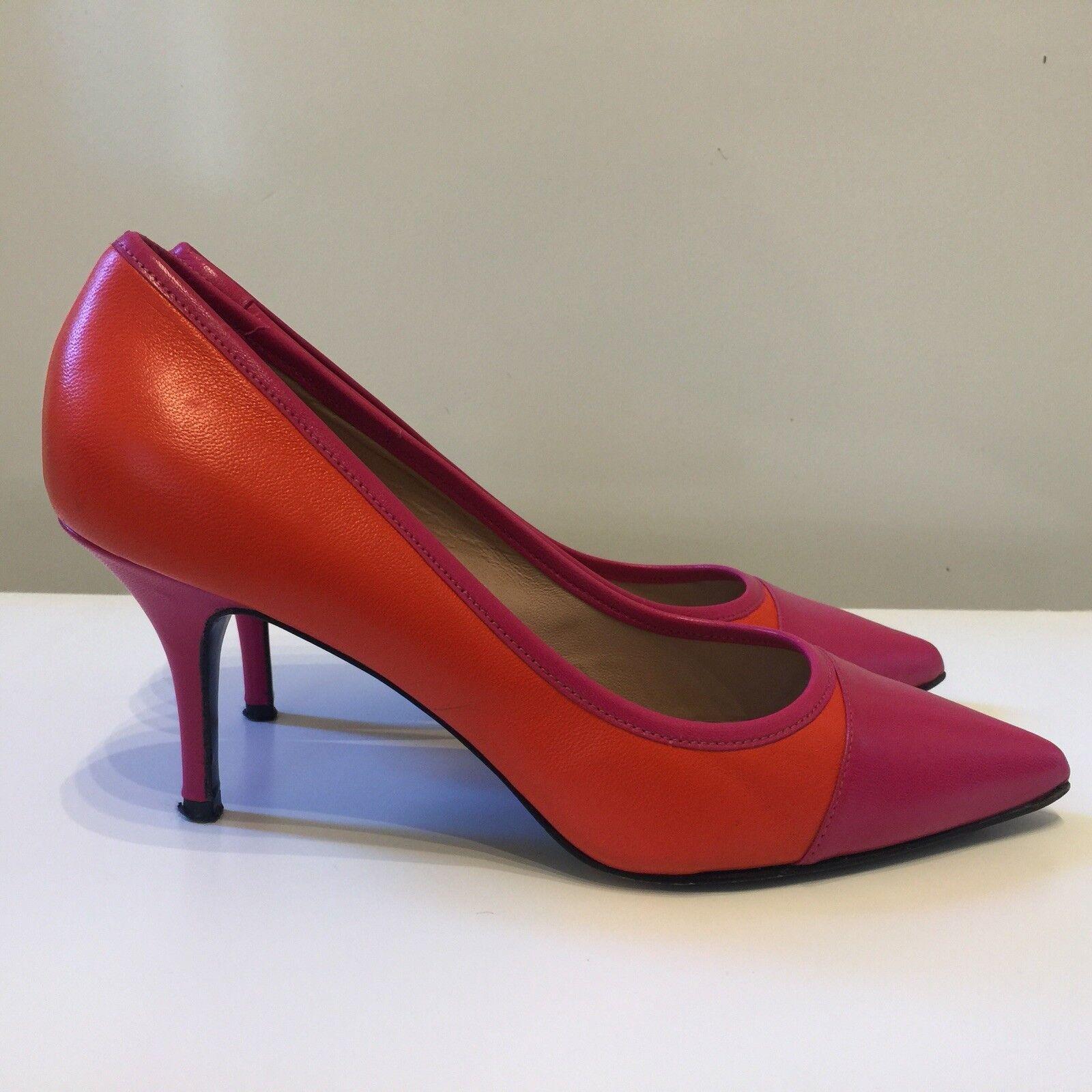 Georges Rech High Heels Party Größe Schuhes Pink/Orange Pointed Toe Größe Party 39.5 EU cba639