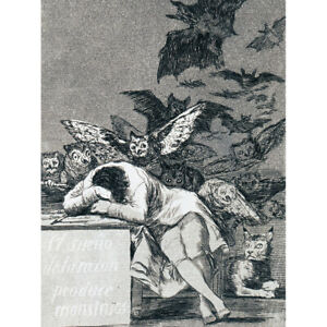 De-Goya-The-Dream-Of-Reason-Brings-Forth-Monsters-Canvas-Art-Print-Poster