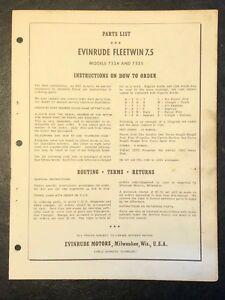 1958-Evinrude-Fleetwin-7-5hp-Models-7524-amp-7525-Outboard-Motor-Parts-Catalog