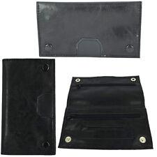 Tobacco Pouch Rizla Paper Slot  PU Leather Button Carry Case Bag Random Colour