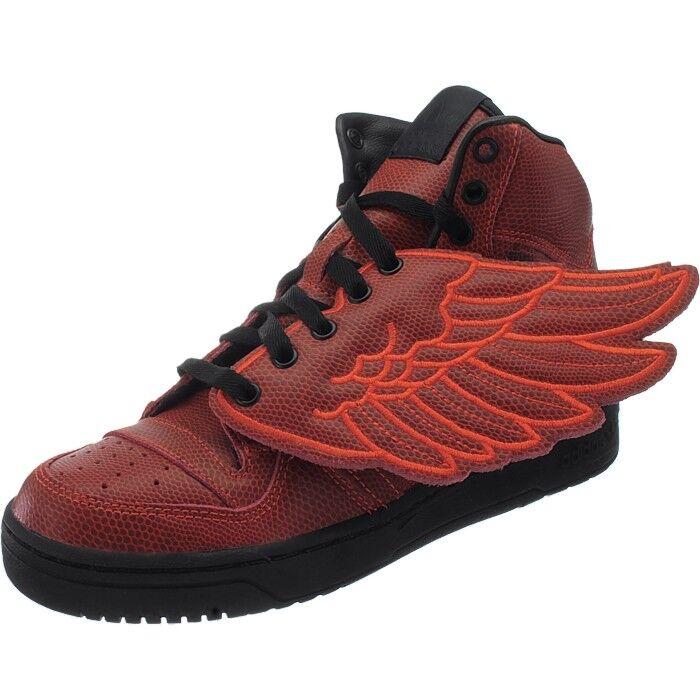 Adidas JS Wings BBall Herren Leder Sneakers Jeremy Scott Designer Schuhe rot NEU