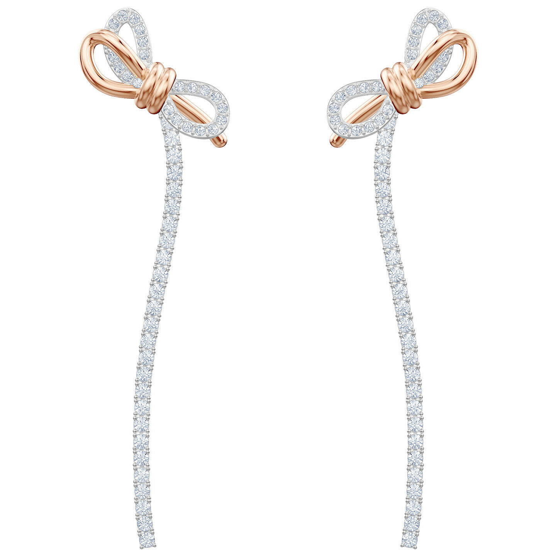 Swarovski 5447083 Lifelong Bow Pierced Earrings, White, Mixed Plating  RRP  179
