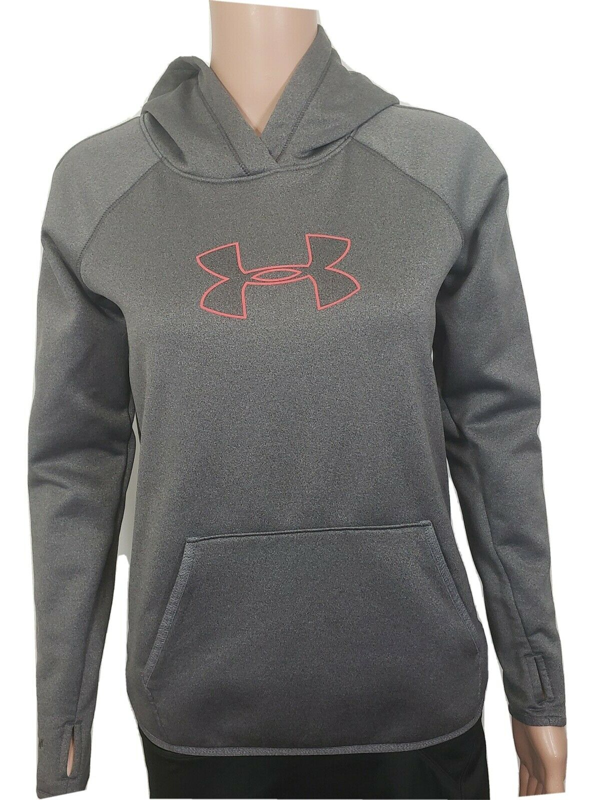 Under Armour Hoodie Size XS Storm Gray Cold Gear Thumbholes Women's