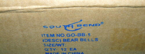 """12 Nouveau South Bend/"""" 5 Bell /""""Bear cloches avec Velco Bracelet @ Hunt /& CAMP de sécurité enfant"""