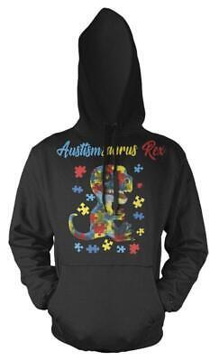 Cordiale Autismsarus Rex Rainbow Puzzle Autismo Dinosauro Bambini Felpa Con Cappuccio-mostra Il Titolo Originale Ampia Selezione;