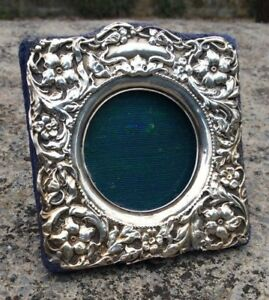 Antique Art Nouveau Solid Sterling Silver Hallmarked Picture Photo Frame 1905