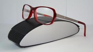 013afd5747b6 PORSCHE DESIGN P 8207 B RED   LIGHT GUNMETAL Brille Eyeglasses ...