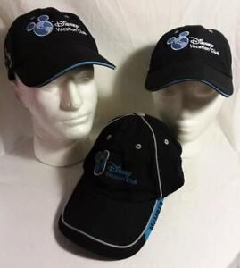 WALT DISNEY WORLD VACATION CLUB MICKEY MOUSE EMBROIDERY BLACK HAT ADULT ADJUSTS