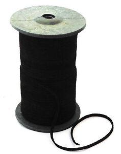 Lederband-flach-3-5mm-breit-Lederriemen-Wildleder-schwarz-1-50-2-50-m