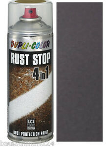 Dupli Color Rust Stop 4 in 1 400 ml Spraydose antrazit DB 703 inkl. Halter