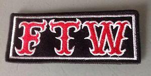 FTW! F@@k The World  Patch Rocker Outlaw Biker 1% MCC Motorcycle Dilligaf Badge