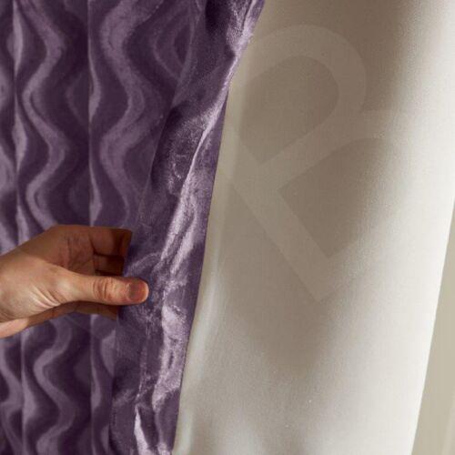 Paire De Vague Velours Rideaux à œillets et argent gris beige violet