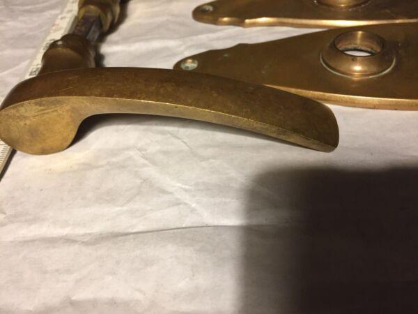 Alte Antike Türklinke Messing Griffe Türblenden Drückergarnitur