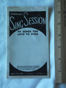 Vintage Communauté Chanter Session Brochure 1930 S-afficher Le Titre D'origine