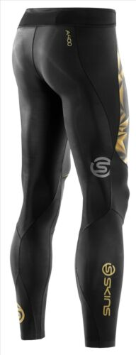 Skins Compression A400 Mens Long Tights * NEW Gold FREE AUS DELIVERY