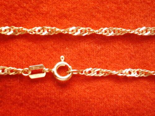 Singapurkette Gold 333 Länge 55 cm x 1,9 mm,gedrehte Goldkette 333 Collier 55 cm
