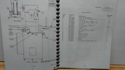 DoAll VS-618 Surface Grinder Parts Manual