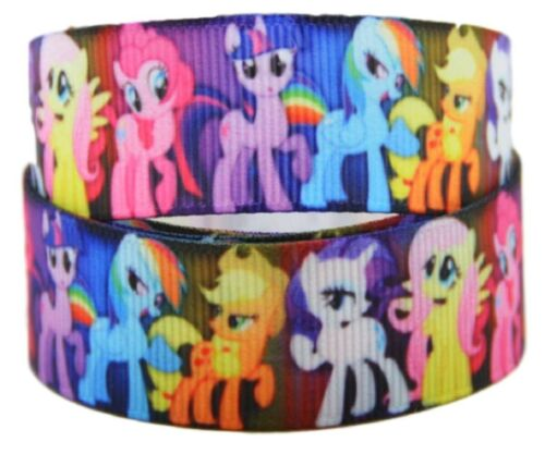 """My Little Pony Characters 1/"""" Wide Repeat Ribbon Sold in Yard Lots"""
