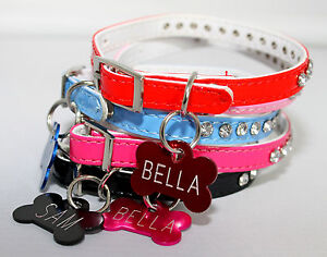 PU-Leather-small-Dog-Puppy-collar-TEACUP-XS-X-SMALL-PUPPY-CHIHUAHUA-TOY-ID-Tag