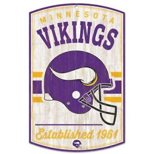 Details About Minnesota Vikings Vintage Style Retro Hardboard Wood Sign 11 X17 High Quality