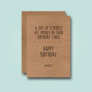 Image Is Loading 4 Out Of 5 Funny Birthday Card Joke