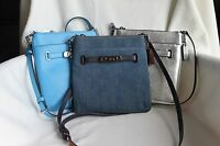 NWT Coach Leather Crossbody Swingpack Swagger Bag 36501/38076 Denim/Blue/Sliver