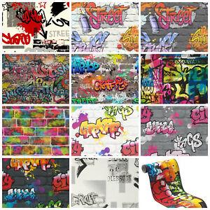 Graffiti Style Wallpaper Teenager Kids Spray Paint Art Steet Urban
