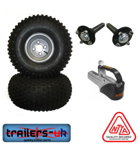 ATV Kit - Wheels, Hubs & Stubs and KNOTT Cast Coupling - FREE DEL