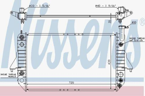 Nissens 60909 Radiator fit CHEVROLET ASTRO 4.3 96-00