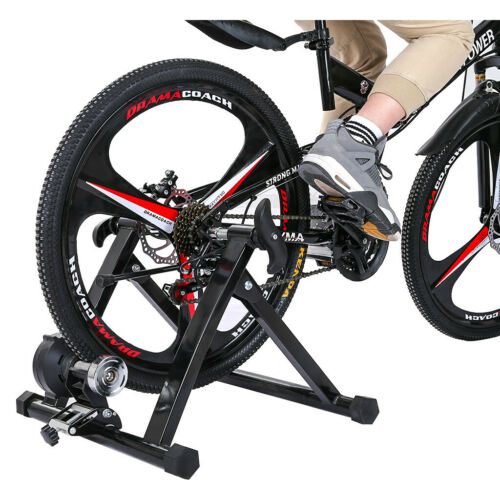 Bike Trainer Stand Magnetic Bicycle Stationary Stand For Indoor Exercise US