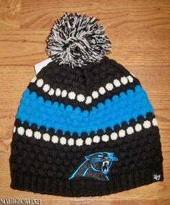 ed0b2ddad WOMENS~LADIES CAROLINA PANTHERS BLUE KNIT BEANIE~HAT~STOCKING CAP~47 ...