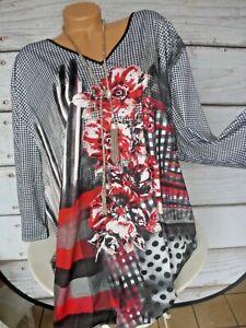 62 weich fallend NEU M.collection Shirt Tunika Bluse Damen Gr 296