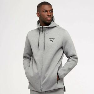 c5ac7cb2512d Mens Puma Evo Core FZ Hoody Hooded Sweatshirt Grey 573342-03 NEW