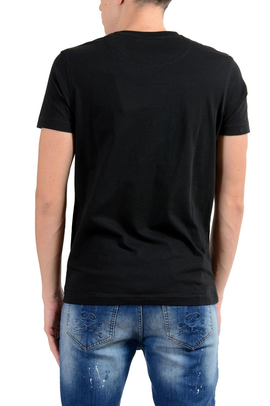 Roberto Cavalli Nere da Uomo Illustrato Illustrato Illustrato Combattimento Girocollo T-Shirt Taglia 548012