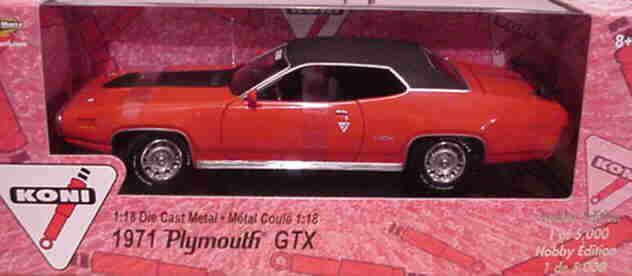 1971 Plymouth GTX rot 1 18 Ertl American Muscle 33495