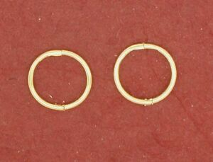 Gold-Plated-Sterling-Silver-SLEEPERS-Earrings-Hinged-Tiny-8mm-small-solid-925
