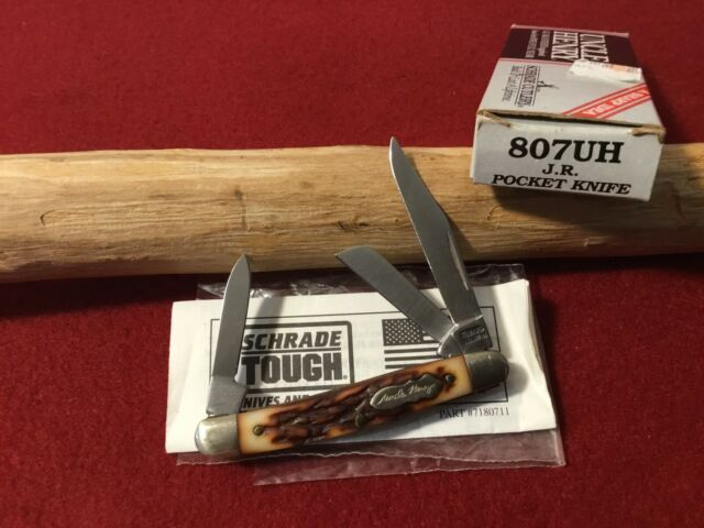 "Schrade USA 807UH Uncle Henry ""J.R."" Small Stockman Pocket Knife"