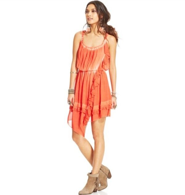 ca7b71c675cb2 NWT Free People Aphrodite Dress Pimento Size Small orange Boho ...