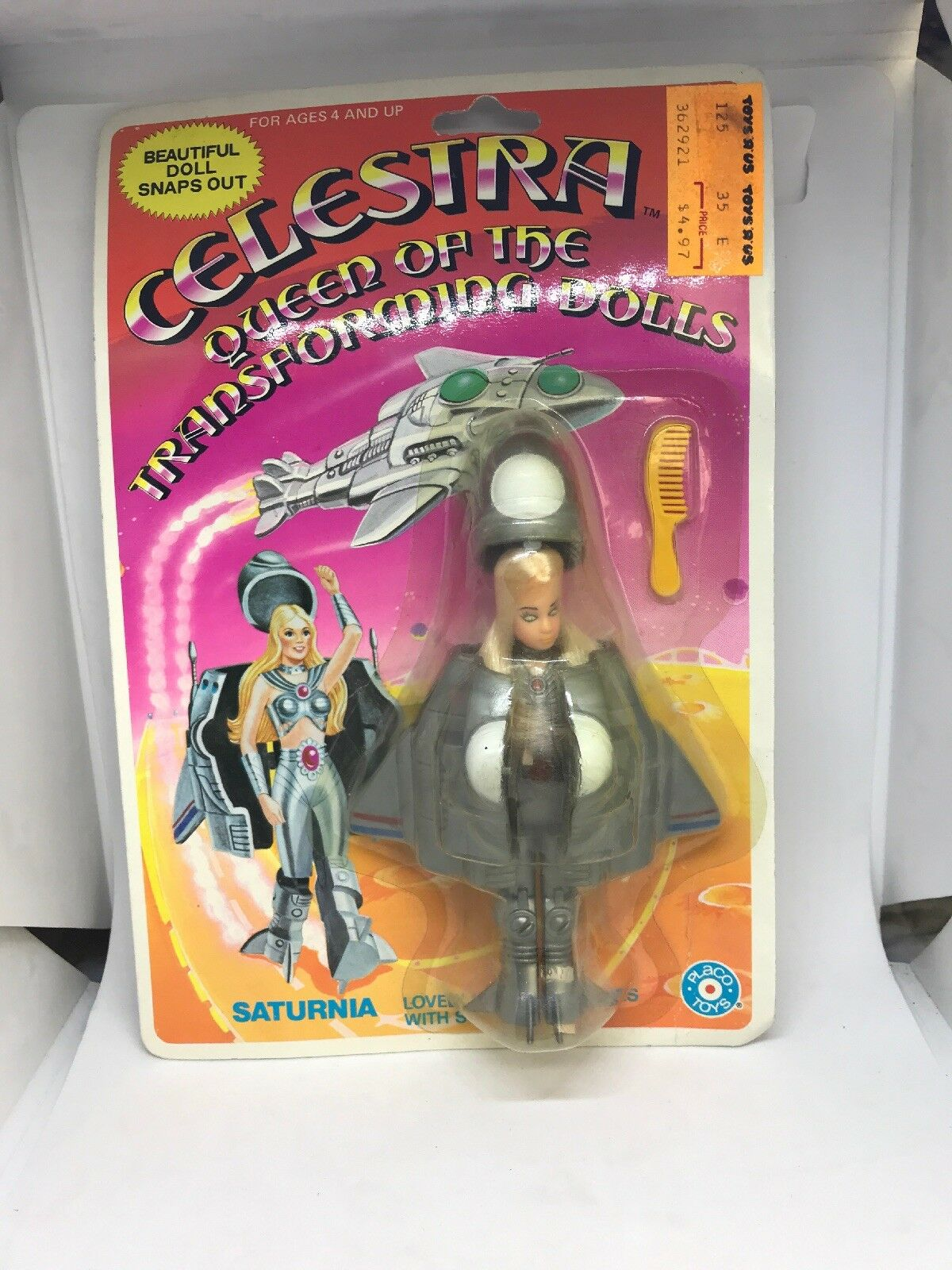 SATURNIA Celestra Queen of the Transforming Dolls Dolls Dolls 1986 Placo Action Figure New 60b16d