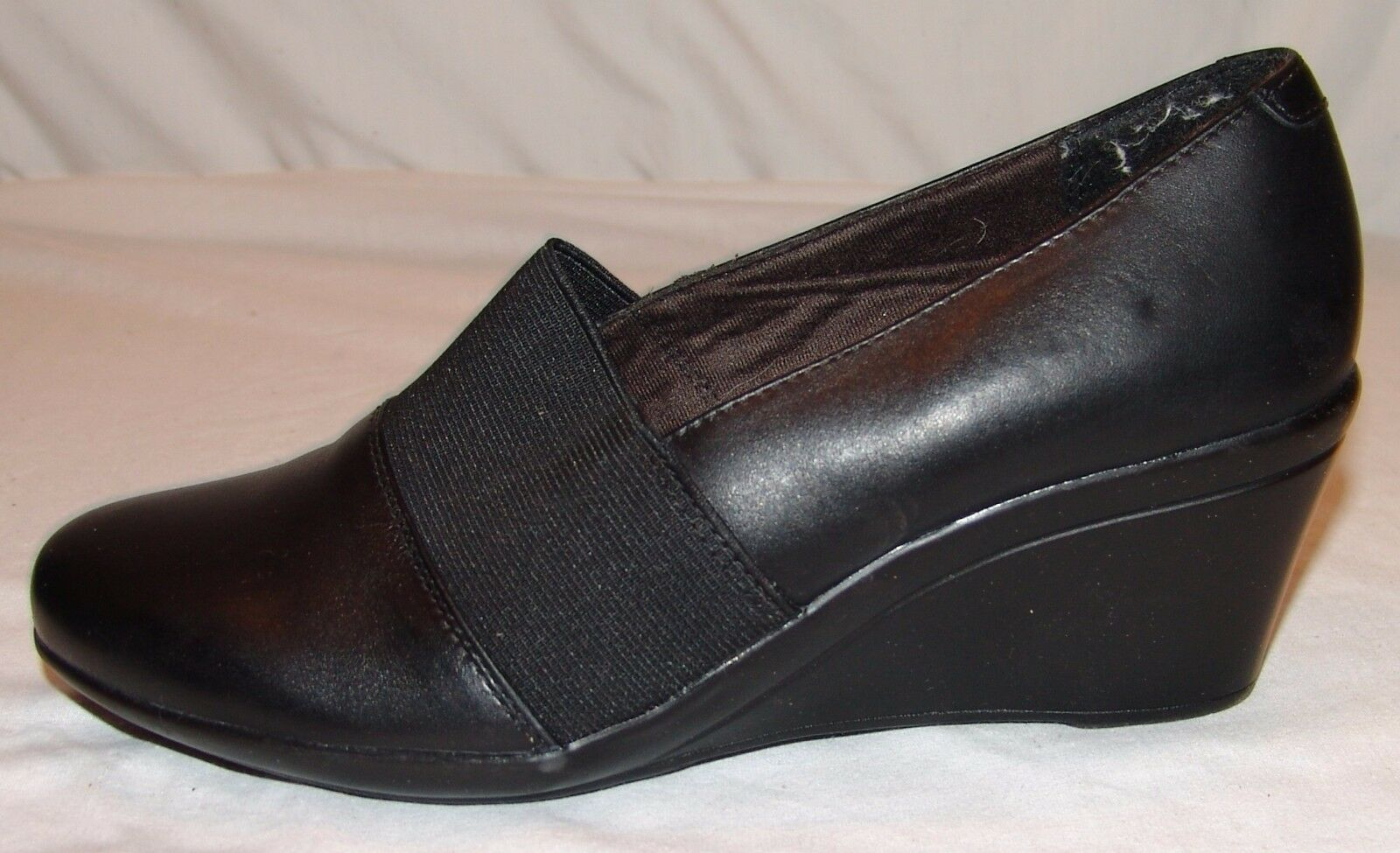 Clarks Bendables Keilabsatz Schuhe 7M 7 M Damen Schwarz Klassisch ohne Bügel