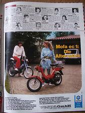 MOFA VESPA CIAO, Si  BRAVO WERBUNG WERBESEITE 1982, 80er Jahre, 80s, 13/82