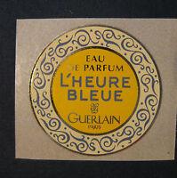Étiquette Ronde Guerlain Paris L' Heure Bleue Eau De Parfum 32mm