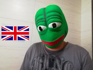 Pepe The Frog Latex Mask Fancy Dress Halloween Party Full Head