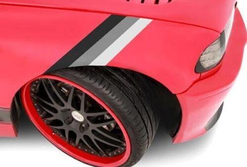 2 SETS of Three Monochrome Color Stripe Hood Decal BMW M3 M5 M6 X5 E30 E36 E46