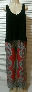 NEW! INC International Concepts Paisley Print Flyaway Tank Jumpsuit M, L