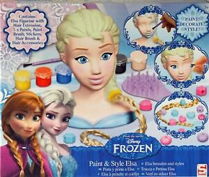 Disney-Frozen-Elsa-3-In-1-Paint-Decorate-Style-Your-Own-Model-Head-Toy