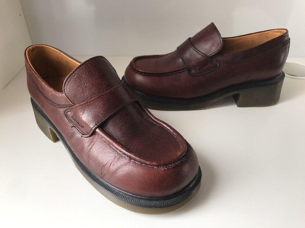 Vintage Dr. Martens Airwair 8462 Braun Leder Schuhes Sz UK8 Made In England